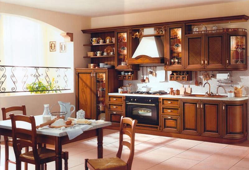 Кухни дизайн из массива